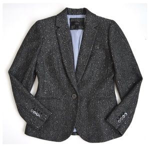 J. Crew Campbell Blazer In Sparkle Donegal Wool